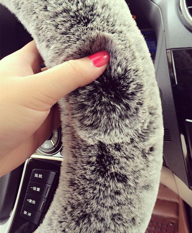 Snowball™ Imitation Rex Rabbit Fur Car Steering Wheel Covers