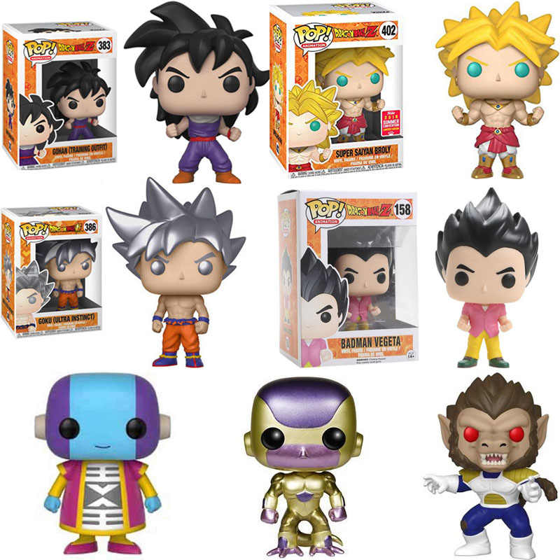 Funko pop Japanese Anime Dragon Ball Broly GOKU Frieza Vinyl Action Figure Collection Toys for children Christmas gift