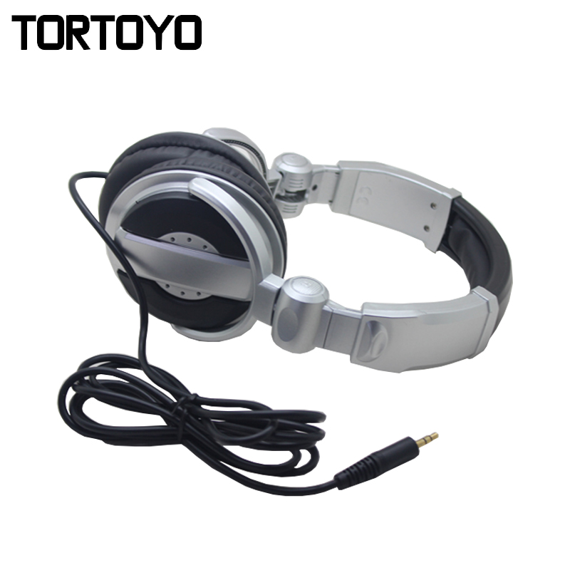 TORTOYO Professional Portable Wired PC Phone Monitoring Music Game DJ Headphone HIFI Super Stereo Headset for Recording Studio