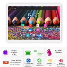 2019 Newest Tablet PC 10 inch 3G 4G LTE 8 Cores 4GB RAM 32GB ROM Dual SIM Android 7.0 GPS Tablet 10.1 IPS 1280*800 Free Shipping