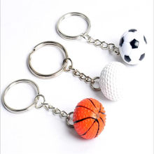 Sports Keychain Car Key Chain Key Ring Football Basketball Golf ball Pendant Keyring For Favorite Sports man's Gift B164(China)