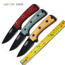 Tactical Knife Survival Out of Print PSRK Black Coating SAR3 Fixed Blade Knife Busse DC53 Steel Yellow Red Blue Handle Color
