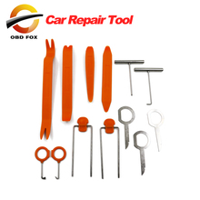 2021 1 Set 12Pcs Plastic Car Radio Door Clip Panel Trim Dash Audio Removal Pry Tool Repairing 1VUY free shipping