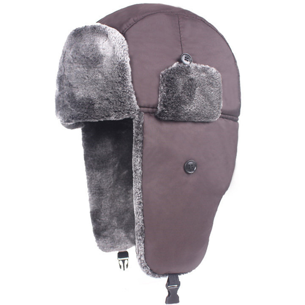 Unisex Windproof Winter Warm Trapper Hat Ear Flap Caps Waterproof Fur Lined Hat Thicken Bomber Simple(China)