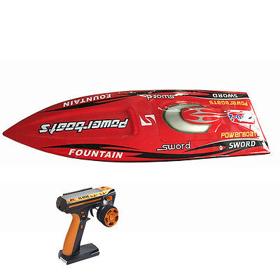 E36 RTR Sword Fiber Glass Racing Speed RC Boat W/1750kv Brushless Motor/120A ESC/Servo/Remote Control Boat Red h625 pnp spike fiber glass electric racing speed boat deep vee rc boat w 3350kv brushless motor 90a esc servo green