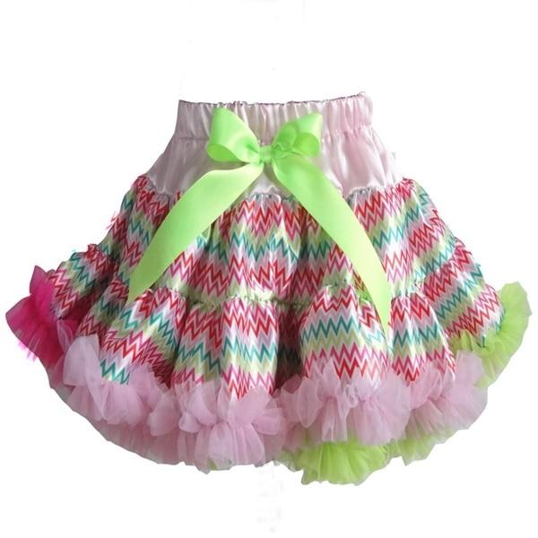 Hot sale Pettiskirt Baby Girl fluffy Chiffon pettiskirts Girl's Cute dancing tutu Skirts mix color free shipping PETS-135