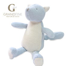Discount 21cm hand-made blue squirrel baby doll,cotton linen Eco material ,plush toys for birthday party gift