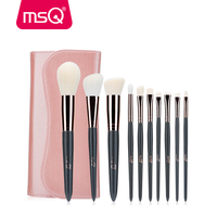 MSQ 10pcs Makeup Brushes Set Powder Concealer Lip Eye Make Up Brush Set Rose Gold Aluminium