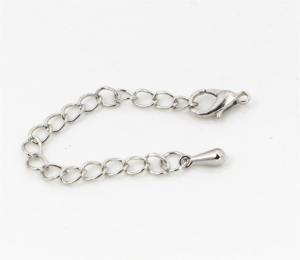 10 шт./лот, 50, 70 мм, удлиненная Хвостовая цепочка, застежка-карабин, соединитель для изготовления ювелирных изделий DIY, браслет, ожерелье
