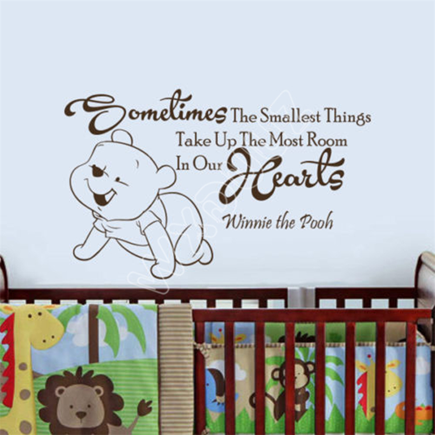 WXDUUZ Winnie The Pooh Wandtattoo Zitat Manchmal Die Kleinste dinge ...