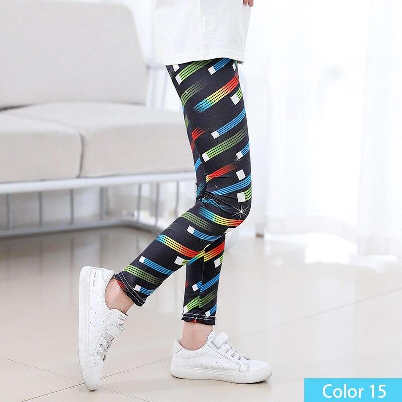 SheeCute/Леггинсы с принтом для девочек; одежда для маленьких девочек; Детские обтягивающие леггинсы с цветочным принтом; SC1752 - Цвет: color15