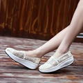 2017 Women Flats Women Casual Sheos Fashion Comfortable Lace Loafers Heavy Bottomed Platform Shoes Size 35-40 #B2011