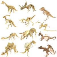 DIY dinosaurier puzzle 3D dreidimensionale holz kinder pädagogisches spielzeug schüler handgemachte materialien