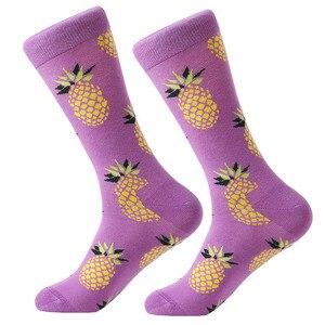 Image 2 - MYORED 12 çift/grup erkek çorapları Calcetines Hombre moda düğün hediyesi erkekler rahat çorap sonbahar kış sıcak noel hediyesi