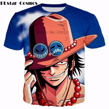 PLstar Cosmos Brand clothing Men Women summer Fashion T-shirts Anime One Piece Funny Portgas D Ace 3d printed casual t shirt