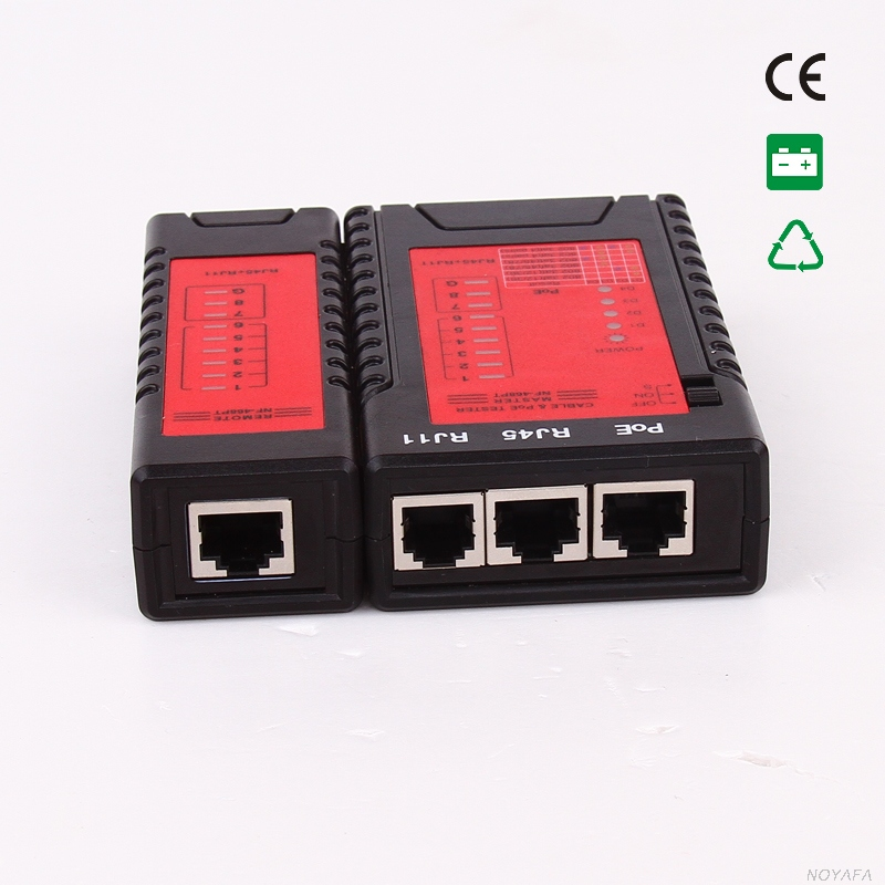 Free shipping Noyafa NF 468PT POE Lan tester Telephone tester wiremap for network telephone Cables with