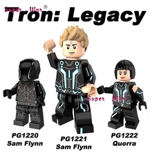 Single pizza ice cream Fries peanut fruit disguised Watermelon Tron: Legacy Sam flynn Quo figure building block toy for children(China)