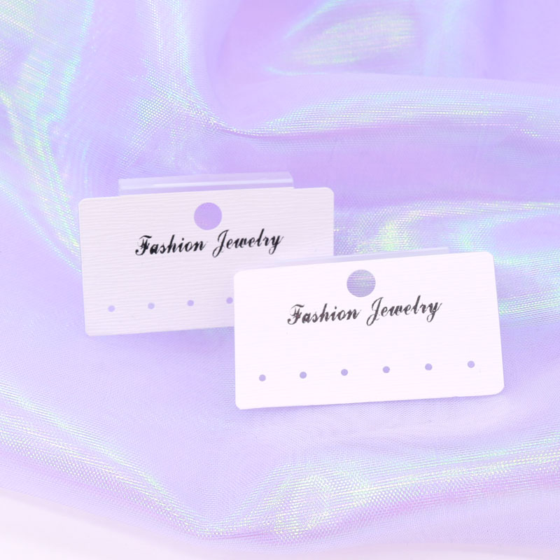 3*5.5cm custom logo printed earring cards jewelry earring cards custom earring display plastic cards tags 100 pcs image