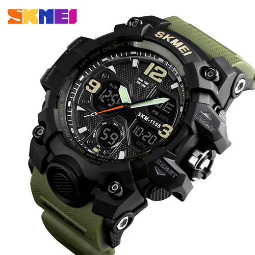 SKMEI Top Brand Luxury Sport Watch Men Fashion Outdoor LED Digital Man Wristwatches Waterproof Military Clock montre homme