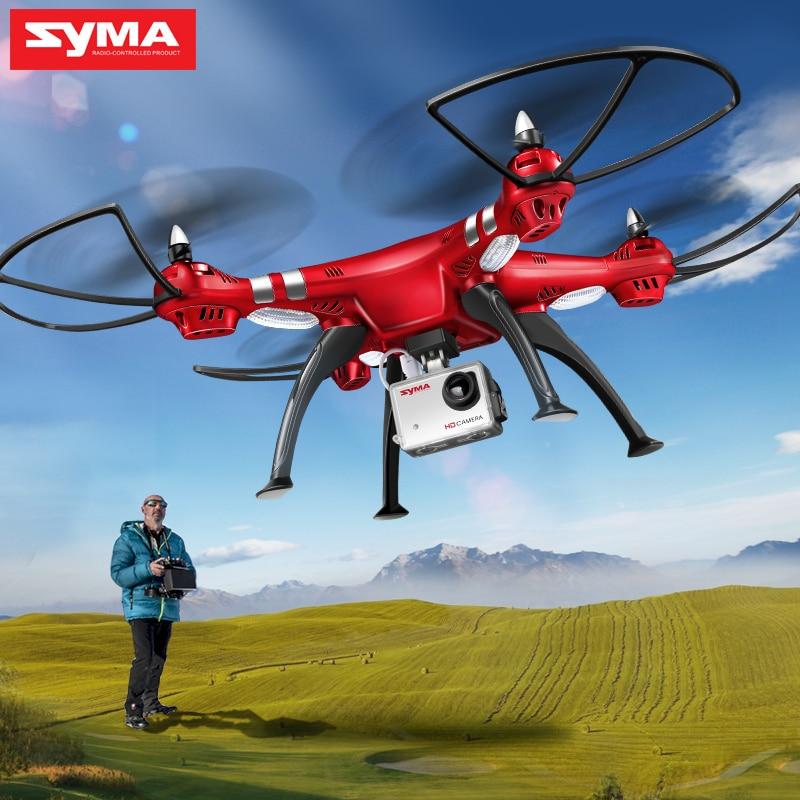SYMA professionnel aéronef sans pilote (UAV) X8HG X8HW X8HC 2.4G 4CH RC hélicoptère Drones 1080 P 8MP HD caméra quadrirotor (SYMA X8C/X8W/X8G mise à niveau)