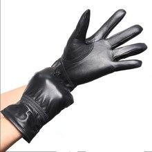 Man Winter Glove Plus Size Wool Sheepskin Fur Thicken Gloves Male Oversized Leather Fur Warm Mitten