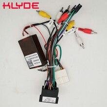 KLYDE Car Stereo Radio Wire Cablaggio di Alimentazione Adattatore con Canbus Decoder per KIA Sorento Sportage/Hyundai IX35 Santa Fe verna