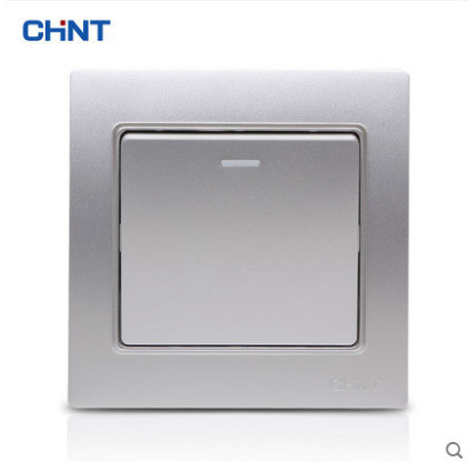 CHNT 86 Type Switch One Gang Two Way Three Color Wall Switch Socket Panel Safety Steel Frame fred blunt one two three