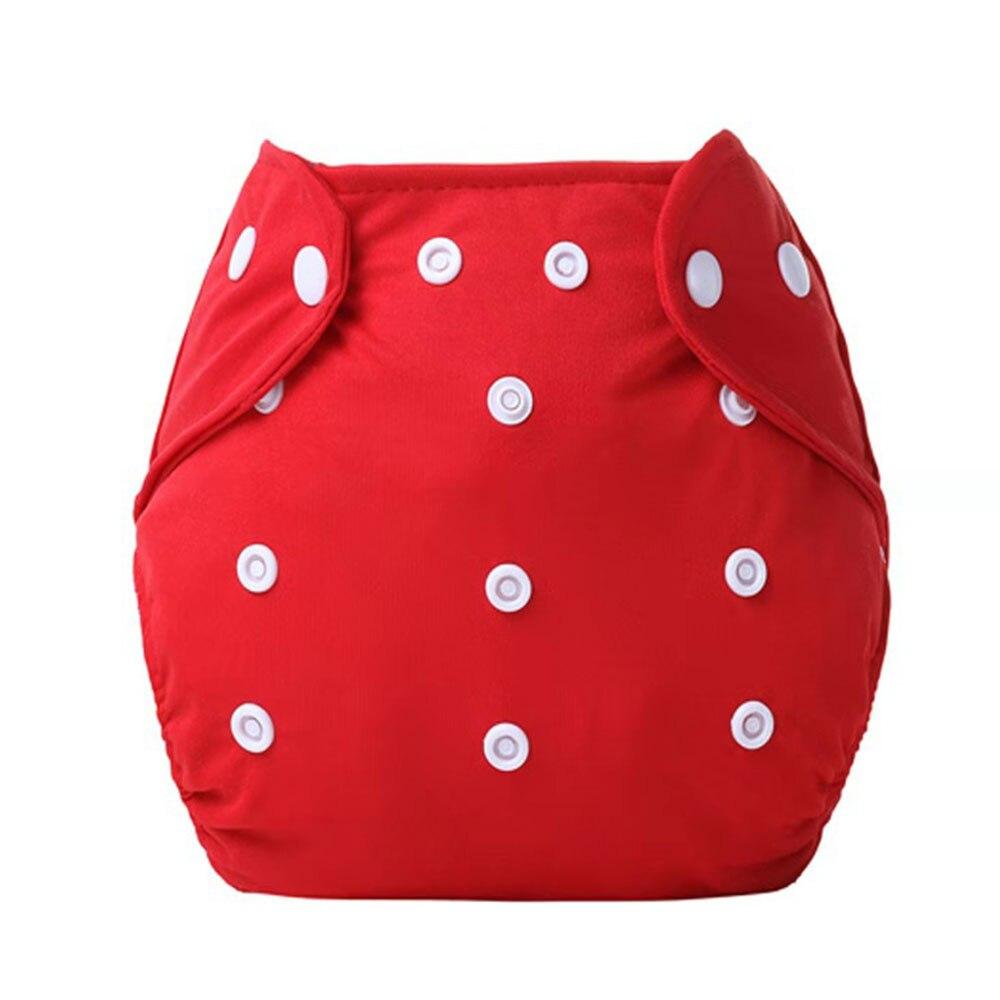 Детские тканевые подгузники детские подгузники хлопковые многоразовые подгузники с карманами моющиеся регулируемые детские подгузники - Цвет: red