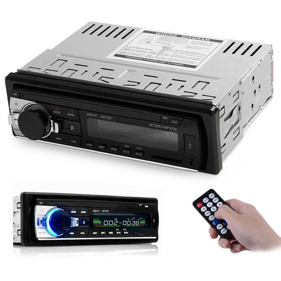 12V Bluetooth V2 0 USB SD AUX APE MP3 MMC WMA Radio Player Car Electronic Subwoofer