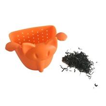 Новое поступление Cat сеточка для заваривания чая Еда силикона Творческий ситечко для чая фильтр многоцветный Симпатичные чай инструмент