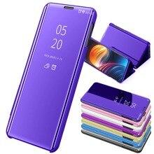 Thông minh Gương Lật Ốp Lưng Dành Cho Dành Cho Samsung Note 10 Pro S10 S10Plus Tráng Gương Chống Sốc Cửa Sổ Cấp Kiểu Trực Quan Cho samsungS10 5G