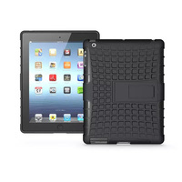 Premium Armor Stand Case For Ipad 2 Cover Silicone Back Cover For Apple Ipad Air 2