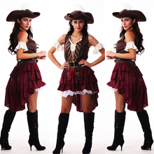 2018 New Sexy Women Pirate Costume Halloween Fancy Party Dress Carnival Perfor mance high quality Adult Cosplay Costumes