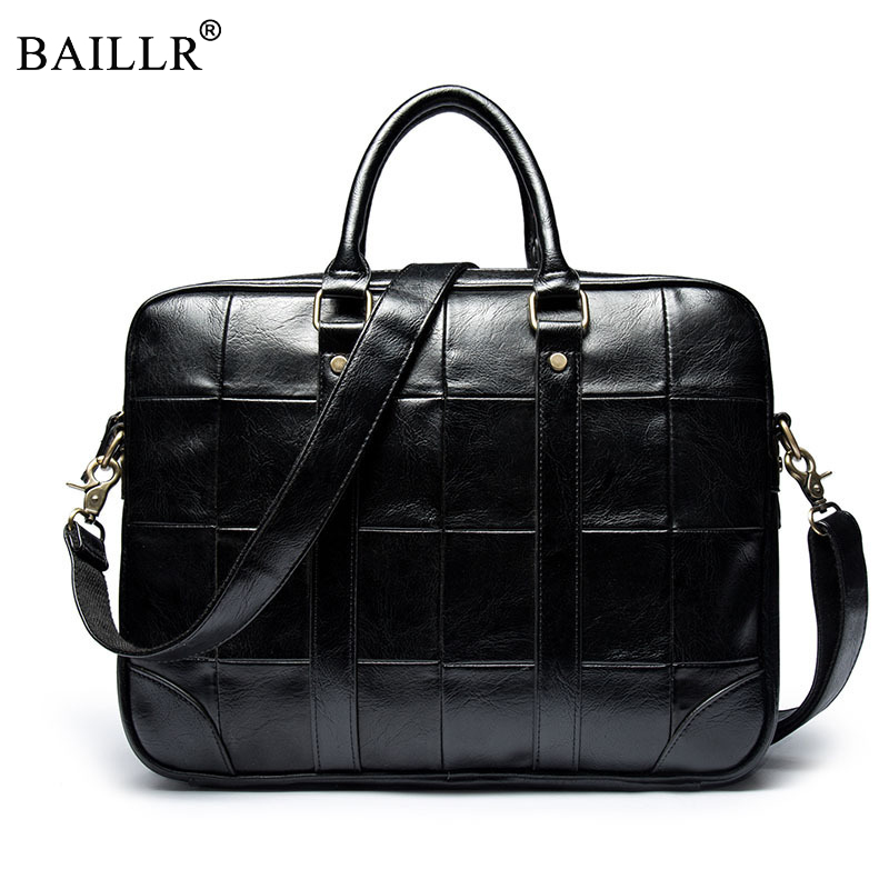 Promotion 2018 Fashion Simple Famous Brand Business Men Briefcase Bag Luxury Leather Laptop Bag Man Shoulder Bags High Quality