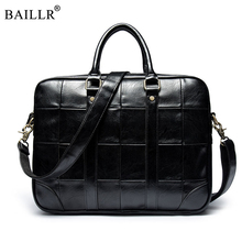 Promotion 2019 Fashion Simple Famous Brand Business Men Briefcase Bag Luxury Leather Laptop Bag Man Shoulder Bags High Quality цена в Москве и Питере