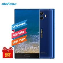 Ulefone MIX 4GB RAM 64GB ROM 5.5 Inch Smartphone Android 7.0 13MP+8.0MP Dual Back Cameras Gyro 2SIM Fingerprint LTE 4G Cellphone