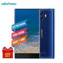 """Ulefone MIX 5,5 """"HD 4 GB RAM + 64 GB ROM 3300 mAh Dual Rückseite Kameras 13MP Gyro Kompass Android 7.0 MT6750T Fingerprint ID 4G Smartphone"""