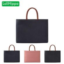 LoliHippo Retro Laptop Handbag Waterproof Notebook Business Bag Portable Handbag for Apple Macbook Air Pro 11.6 13.3 15.4 Inches