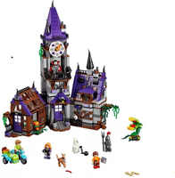 Scooby Doo Mysterious Ghost House Courtyard Building Blocks Model Educational Toy For Children Compatible 75904