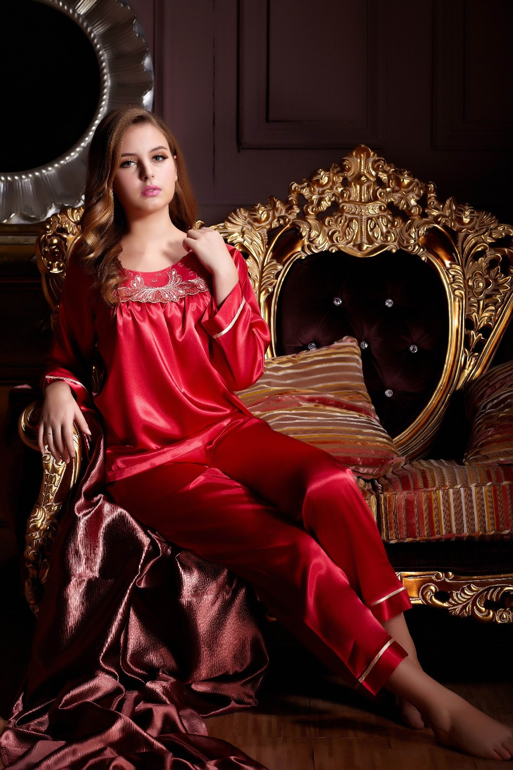 Popular Womens Silk Pyjamas-Buy Cheap Womens Silk Pyjamas lots ...
