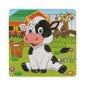 Vaca Leiteira de madeira Jigsaw Puzzles Brinquedos Para As Crianças da Educação E Aprendizagem Brinquedos Presente de Natal Vee_Mall childred de brinquedos Frete Grátis