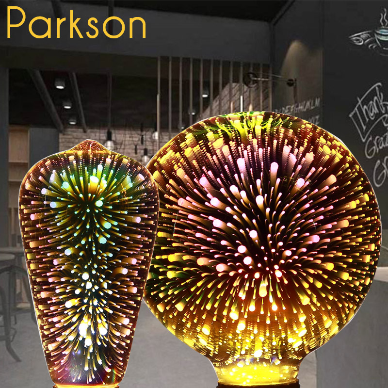 3D Star Led Bulb 220V E27 Colourful Fireworks Led Edison Bulb Holiday Christmas Decoration Lampada LED Lamp Lamparas Bombillas ...