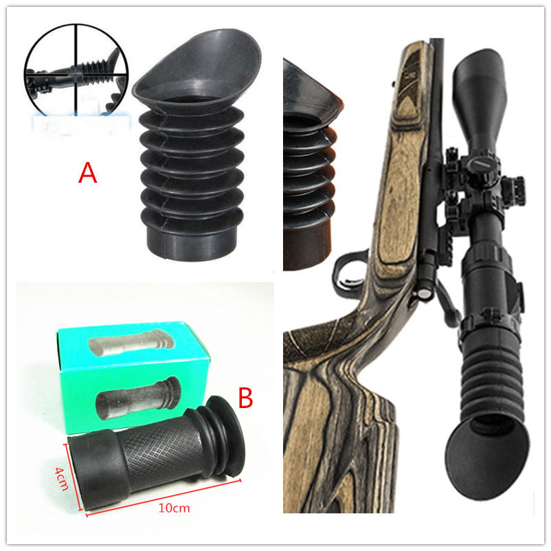 Oblique Rubber eye protector 40mm inner diameter Rifle scope recoil eye protector Hunting Party Supplies Scope Accessories(China)