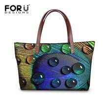 Frauen Handtasche 3D Druck Design Weibliche Große Kapazität Casual Schultertasche Taschen Mode Dame Oben-griff Shopper Einkaufstasche Bolsa