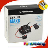 Hobbywing EZRUN Max8 V3 150A Waterproof Brushless ESC For RC 1/8 Traxxas E REVO Traxxas Summit HPI Savage Thunder Tiger (T Plug)