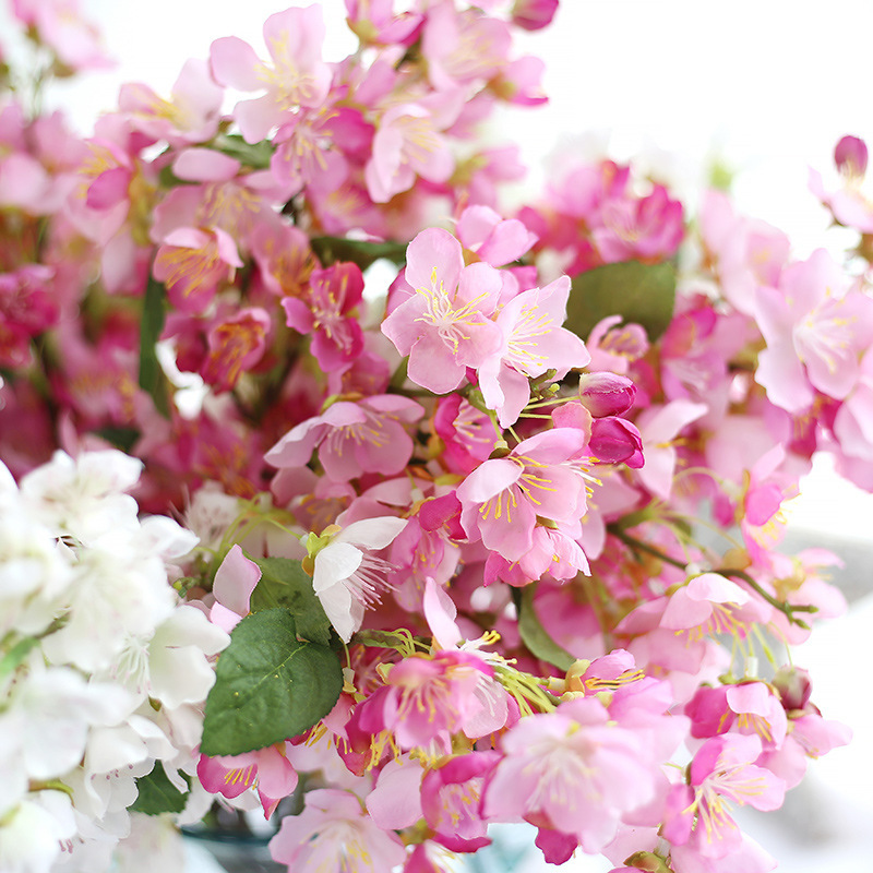 holding flowers of japanese cherry plum flower plant simulation home furnishing decorative wedding flowers mw24831