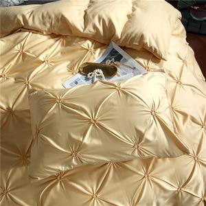 Image 4 - LOVINSUNSHINE Luxury Duvet Cover Bedding Set Queen Bed Quilt Covers Bed Linen Linen Silk AN04#