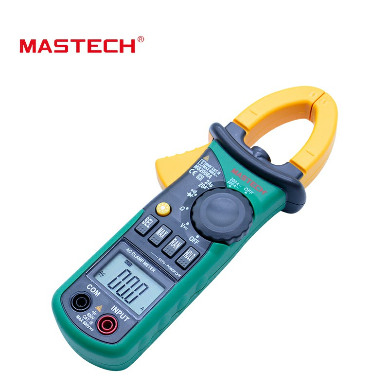 MASTECH MS2008A Digital Clamp Meters Auto Range Clamp Meter Ammeter Voltmeter Ohmmeter w/ LCD Backlight Current Voltage TesterMASTECH MS2008A Digital Clamp Meters Auto Range Clamp Meter Ammeter Voltmeter Ohmmeter w/ LCD Backlight Current Voltage Tester