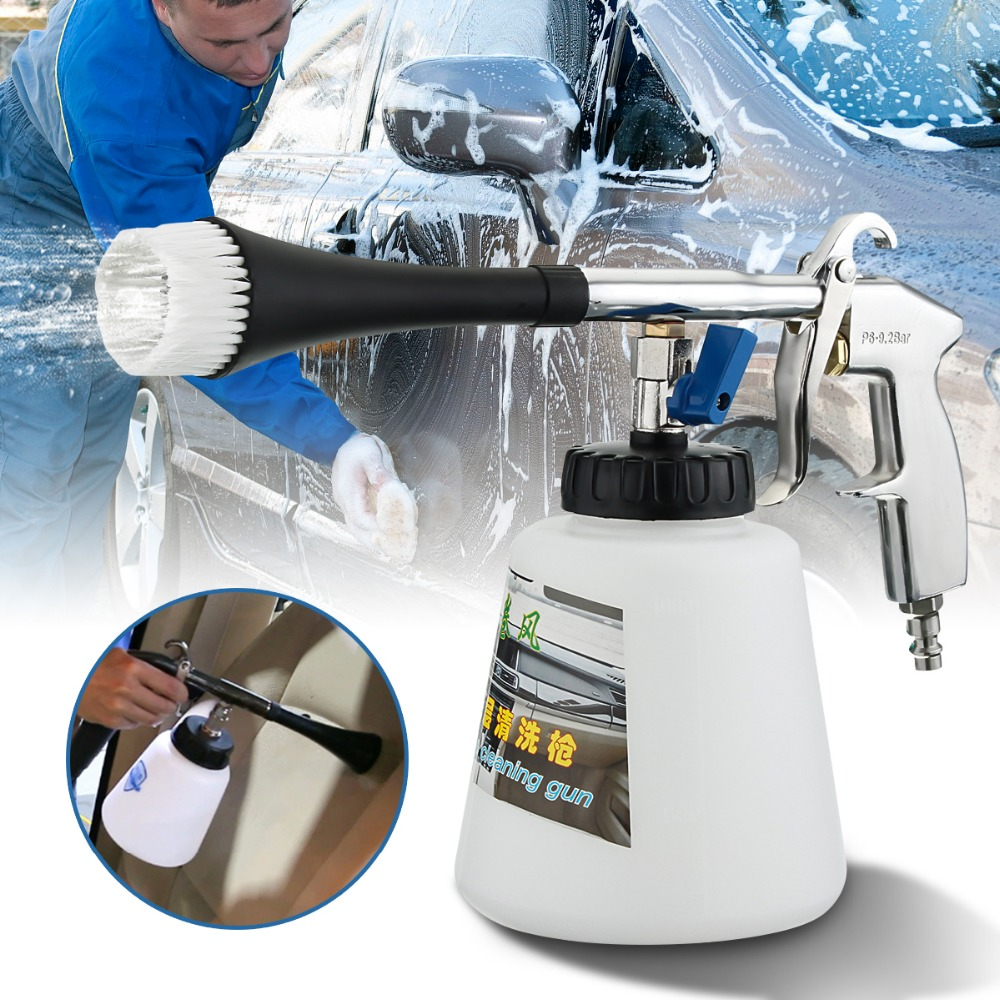 Useful Car Wash Equipment Interior Deep Cleaning Gun And Brush For Cockpit Care Cars Air Opearted