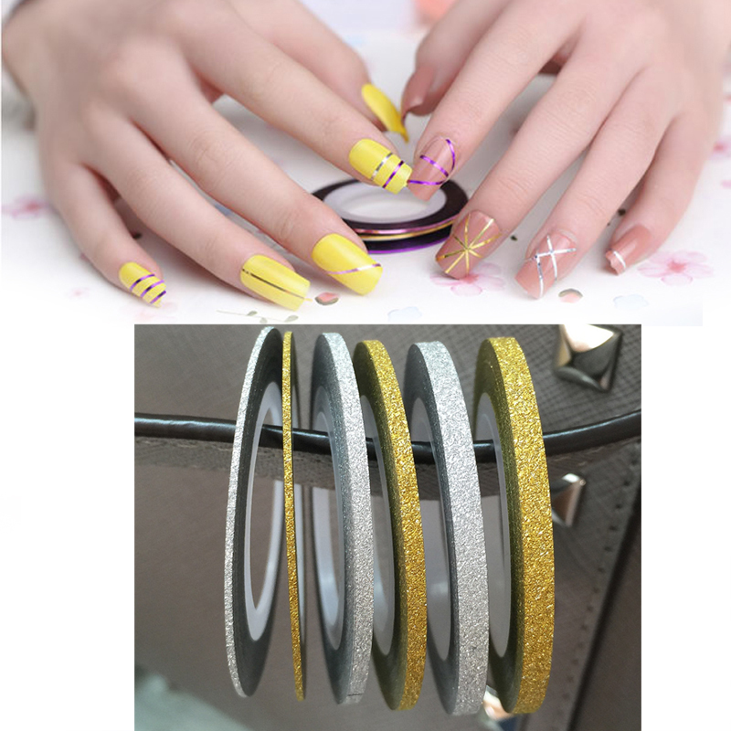 Gold Striping Tape Nail Art: 1Pc Silver Gold Nail Striping Tape Line DIY Nail Art